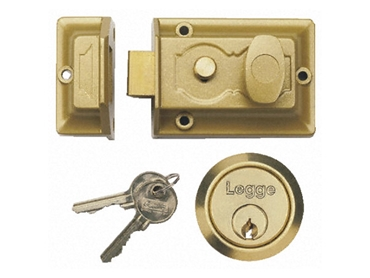 Traditional rim cylinder nightlatch