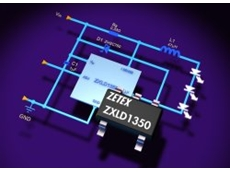 Zetex Semiconductors offers ZXLD1350 switching regulator