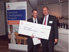 Mr Lyne received a $5,000 cash prize presented by Rabobank Australia & New Zealand chief executive officer Thos Gieskes
