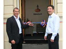 Mark Bennett and Garry Pattison officially open the new Rabobank branch