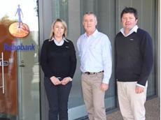 Kylie Meehan, Wayne Saunders and Hamish McAlpin