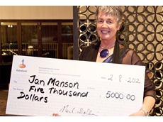 Mrs Jan Manson with the 2012 Rabobank Business Development Award for best project