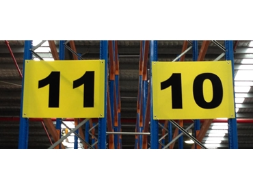 End of Aisle Signs - Yellow Background