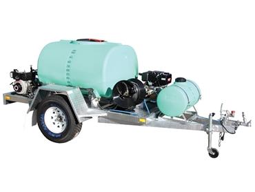 1000 litre Cold Pressure Wash Trailer with Diesel motors & Detergent tank