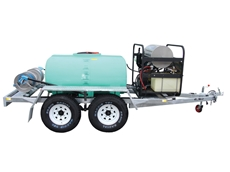 1200 litre dual axle Hot Wash Trailer