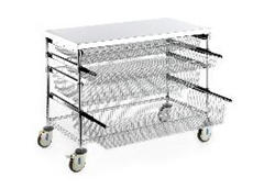 Rapini's new sliding basket system