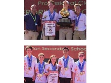 Australia's newest F1inSchools National Champions: Trinity Grammar School, Kew (top) & Brighton Secondary School, Adelaide