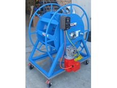RF Series custom made hose reel to hold 25m of 3-inch hose