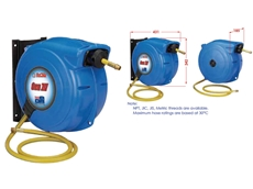 Industrial Quality Spring and Manual Rewind Hose Reels from ReCoila