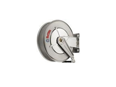 Steel and Stainless Steel Hose Reels with Spring or Manual Rewind Functions