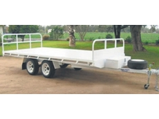 Flat top hay trailers are available from Rebel Equipment