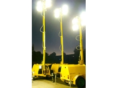 AL4000 lighting towers measure 9.1m when fully extended