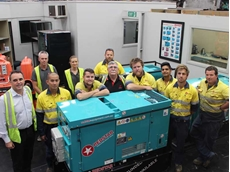 Kevin Ennis, General Manager of Redstar Equipment (far left) pictured with Redstar staff