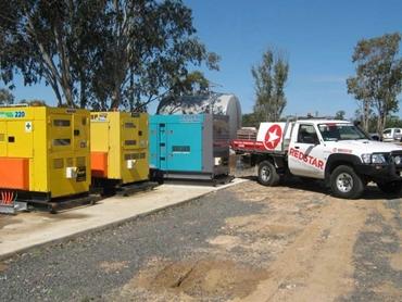 Diesel Lighting Towers, Fuel Tanks and Industrial Generator