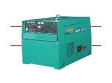 The DAW-500S welder with built-in slow-down unit for decreased fuel consumption