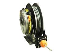 Safe-R-Reel spring rewind speed control system