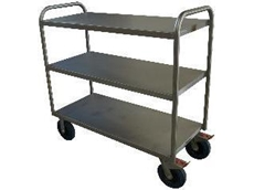 Multideck stainless steel trolleys