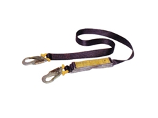 Webbing shock absorbing lanyards (2 metres) from Reflex Handling and Storage