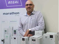 Regal Australia's Sales & Marketing Director Malcolm Henri is shown with the latest portfolio of Marathon drives