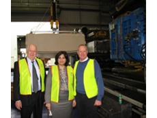 NSW Minister for Western Sydney with the Chair of the Greater Western Sydney Economic Development Board and the Managing Director of Reln Plastics