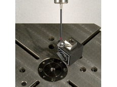 AxiSet Check-Up machine tool testing sphere on 5-axis table