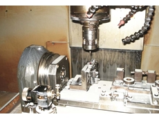 The OMP60 and OTS optical tool setting probe on a machine tool at Associated Tooling