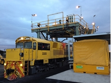 RST's RT4 Superskin solution veneering trains at New Hope Group's Jondaryan Rail Loading Facility