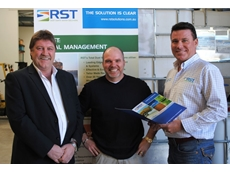 RST's Mark Farmer, RST PNG Representative Angus Davey and RST's David Handel