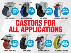 Castors and Wheels for Demanding Applications from Richmond Wheels and Castors