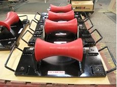 Heavy Duty Pipe Rollers in Various Pipe Diameters and Load Capacities from Richmond Wheels and Castors
