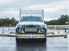 Bosch Trailer Safety Control testing with protective outriggers