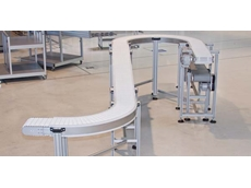 Curved modular conveyor system