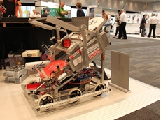 One of the entries in the Hawaii Regional FIRST Robotics Competition