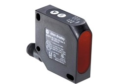 Allen-Bradley 45BPD sensor features a discrete PNP output and also a 4-20mA analogue output, which is automatically scaled between the set-points