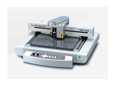 The EGX-30A desktop engraver produces everything from gifts and awards to signs and rhinestone decorated apparel.