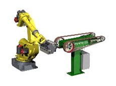 PushCorp's servo back stand for robotic finishing applications.