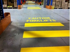 Companies can prevent potentially hazardous situations by separating pedestrians from forklifts