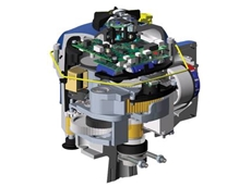 Cutaway illustration of the CVA quarter-turn control valve actuator