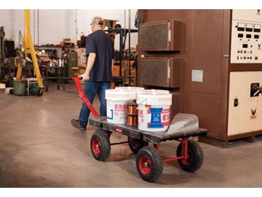 Clever pneumatic wheels ensure smoother and stable transport on all kinds of surfaces