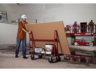 Easy transport and control of bulky items with convenient A-Frame Panel Truck