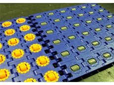 New Uni RTB roller top modular belt by Rydell Industrial (Belting) Co.