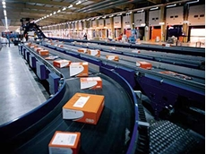 Ammeraal Beltech conveyor belts in a logistics application