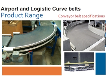 Rydell can supply all types of Airport & Logistic Curve Belts