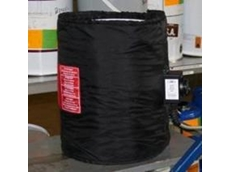 Heater jacket around a 25 litre plastic drum