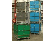 Hopper colour coding containers available from IBC Solutions