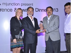 Mr Mehar receiving the Coal Inspection Agency of the Year 2013 award from the organisers IHS McCloskey and mjunction