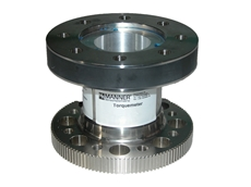 Manner force and torque measuring flange