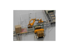 End of Line Packaging with Palletiser Safety Light Curtains SICK