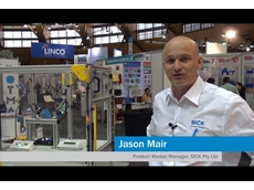 Jason Mair demonstrates sensor solutions for hazardous point protection