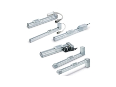 LEF series electrical actuators with recirculating ball bearing guide for all transfer applications (in both belt or screw types)
